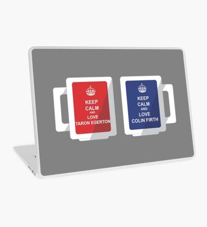 Keep Calm Mugs - Taron Egerton/Colin Firth Laptop Skin