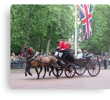 Prince William and camilla Parker Bowles Metal Print