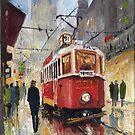 Prague Old Tram 08 by Yuriy Shevchuk