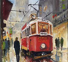 Prague Old Tram 08 by Yuriy Shevchuk
