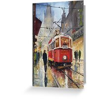 Prague Old Tram 08 Greeting Card