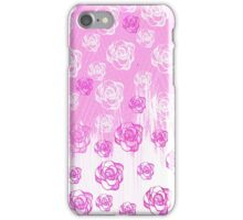 Girly pink watercolor hand made floral pattern iPhone Case/Skin