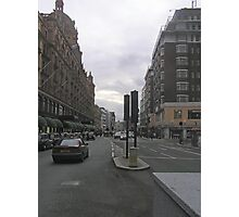 View of a street in London with cars Photographic Print