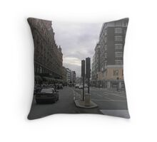 View of a street in London with cars Throw Pillow