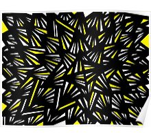 Reichler Abstract Expression Yellow Black Poster