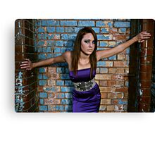 Stunning young new teen model with fantastic eyes Canvas Print