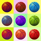 Pop Art Basketball by madeinatlantis