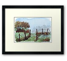 Along my beaten track Framed Print