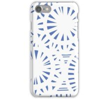 Buckles Abstract Expression Blue White iPhone Case/Skin