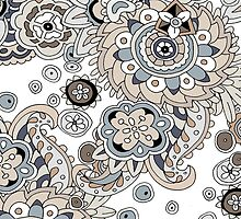 WALLFLOWERS NATURAL PAISLEY COLLECTION by veggiemuse