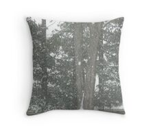 Soft Snowfall In Our Yard Throw Pillow