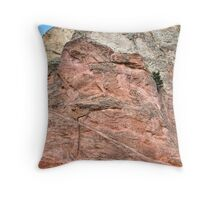 painted rocks with carvings Throw Pillow