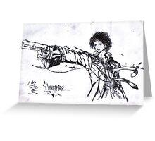 manga vampire Greeting Card