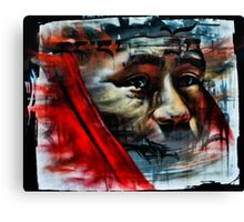 Face on a Wall Canvas Print