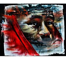 Face on a Wall Photographic Print