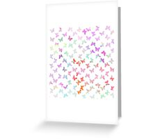 Vintage pastel watercolor cute butterflies pattern Greeting Card