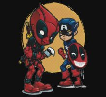 Deadpool and Captain America by Gento