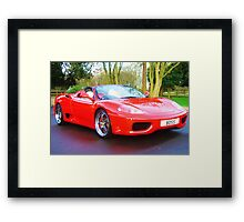 ferrari 360 spider rosso red with boss numberplate Framed Print