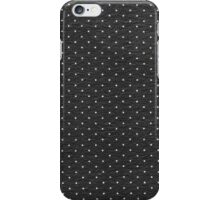 Vintage black and white cute polka dots pattern iPhone Case/Skin