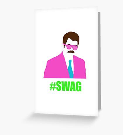 Swagga Ron Swanson Greeting Card