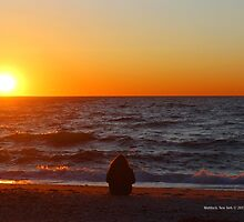 Lonely Lady Waiting For Sunset | Mattituck, New York  by © Sophie W. Smith
