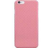 Vintage girly pink brown cute polka dots pattern iPhone Case/Skin