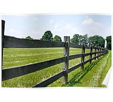 Trailing Fence Poster