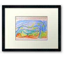 ... in the mountain.... Framed Print