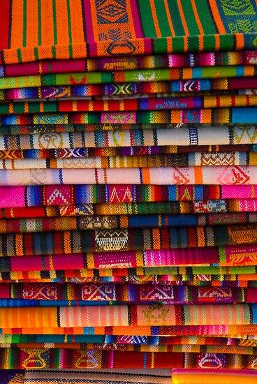 USA. New Mexico. Santa Fe. Blankets. by Alan Copson