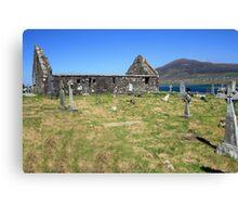 Achil Island cemetery Canvas Print