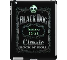BOTTLE LABEL - BLACK DOG iPad Case/Skin
