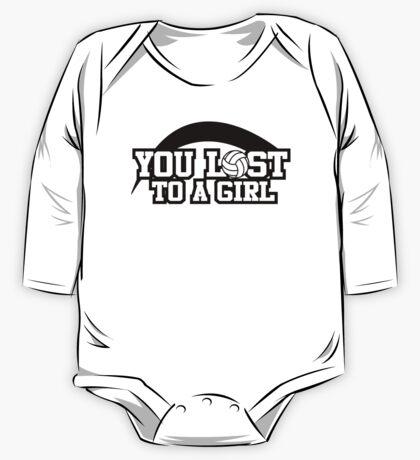 Women's volleyball T-shirt (black) One Piece - Long Sleeve