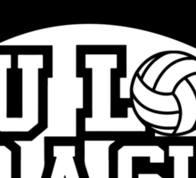 Women's volleyball T-shirt (black) Sticker