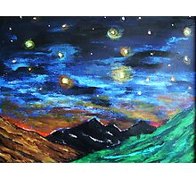 Mountain Starry Night Photographic Print
