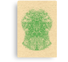 Fractal Forest Green Knight Canvas Print