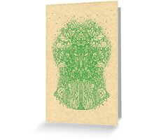 Fractal Forest Green Knight Greeting Card