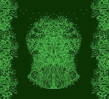 Fractal Forest Green Knight by SusanSanford