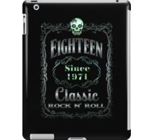 BOTTLE LABEL - EIGHTEEN iPad Case/Skin