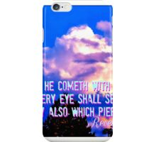 He Cometh With Clouds iPhone Case/Skin