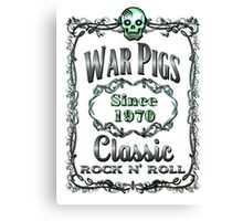 BOTTLE LABEL - CLASSIC ROCK Canvas Print