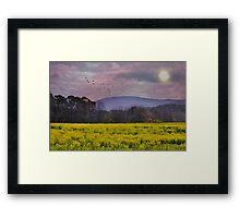 Purple Mountains, Purple Sky Framed Print