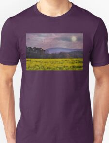Purple Mountains, Purple Sky Unisex T-Shirt