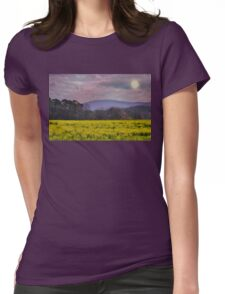 Purple Mountains, Purple Sky Womens Fitted T-Shirt