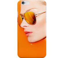 Woman with sunglasses submerged in water  iPhone Case/Skin