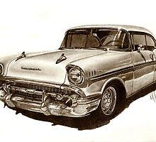 Chevy Bel Air by Martin Hatton