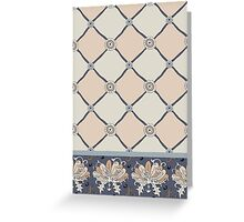 WALLFLOWERS PINK AND GRAY PAISLEY COLLECTION Greeting Card