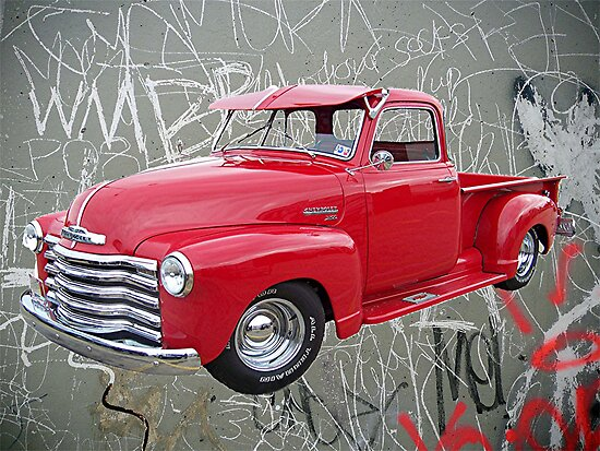 OldNSlo 1949 Chevrolet 3100 Pickup by Glenna Walker