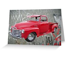 OldNSlo 1949 Chevrolet 3100 Pickup Greeting Card