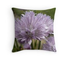 Chives in Bloom Throw Pillow