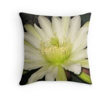 Night Blooming Cereus Throw Pillow